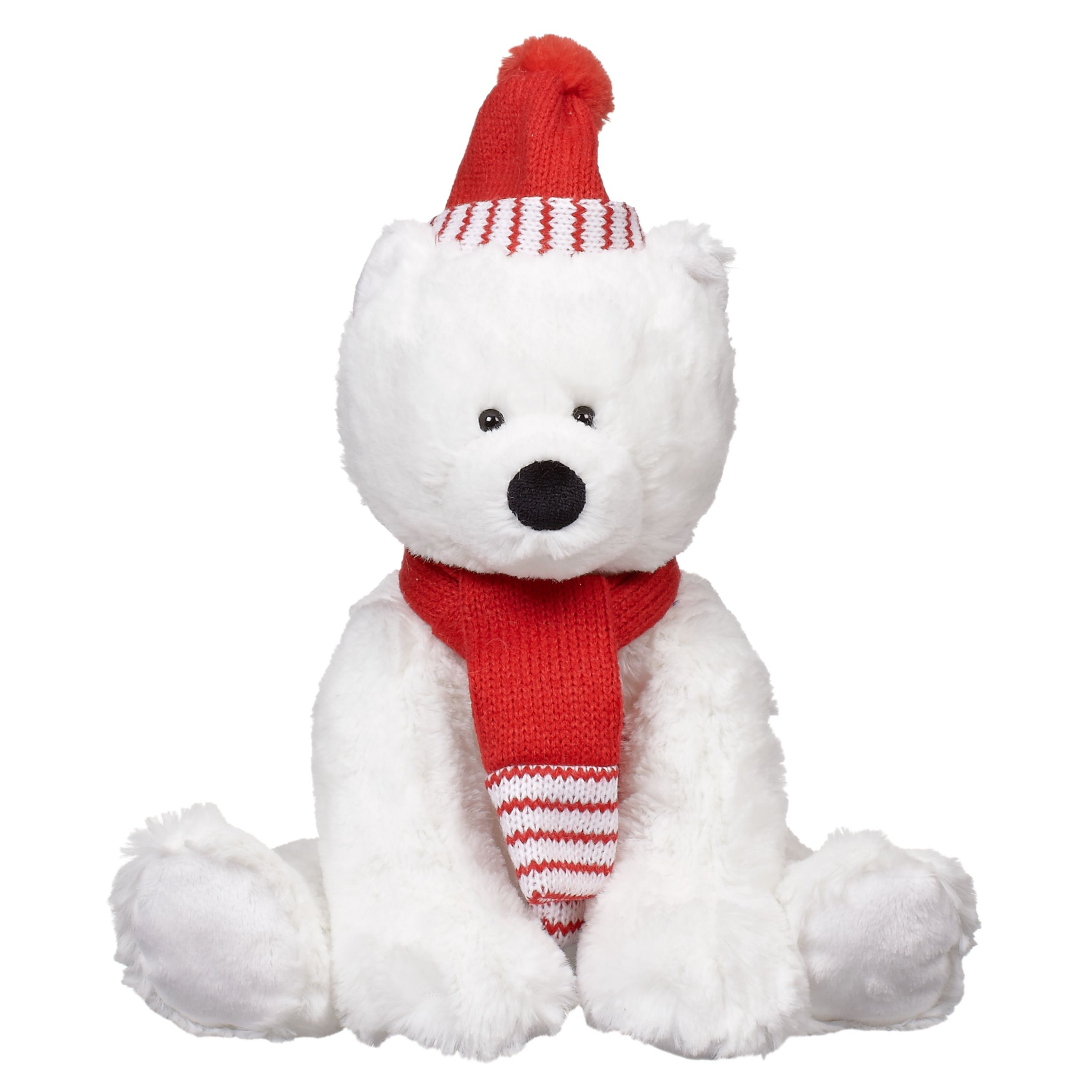 John Lewis Pip Polar Bear, Large, Red/White