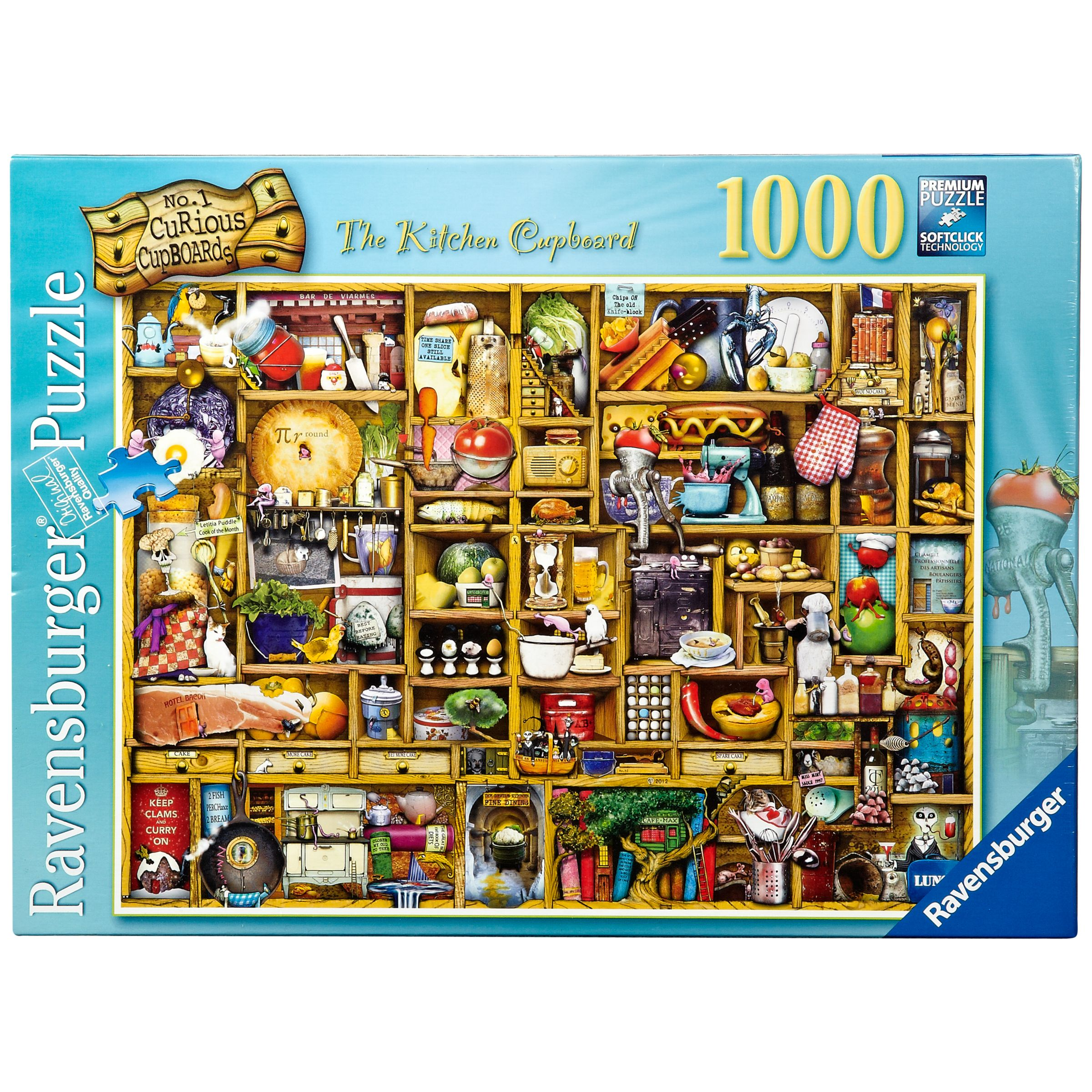 Ravensburger Curious Kitchen Cupboard 1000 Piece Puzzle