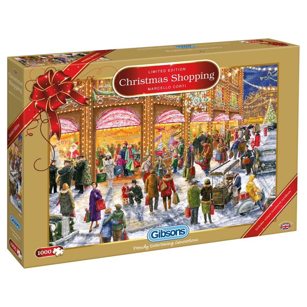 Gibson & Son Limited Edition Christmas Shopping 1000 Piece Puzzle