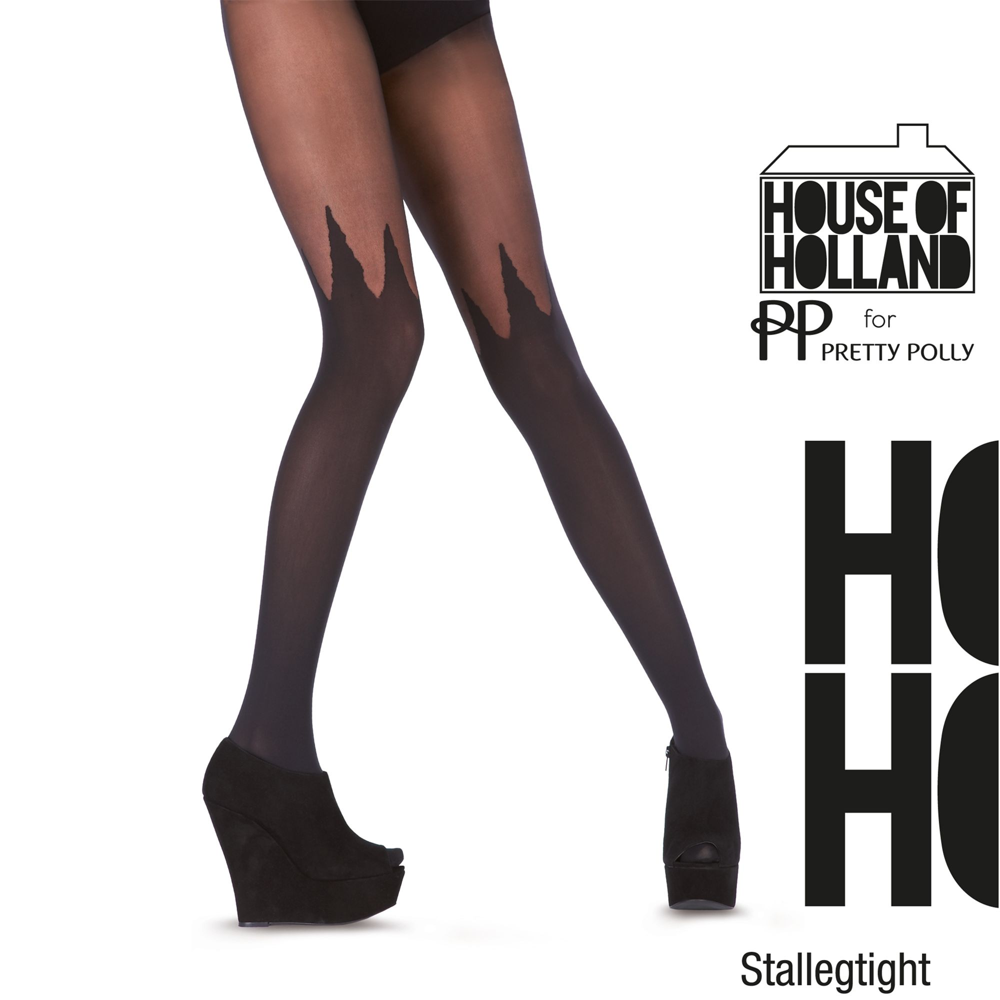 Henry Holland Spike Mock Tights, Black