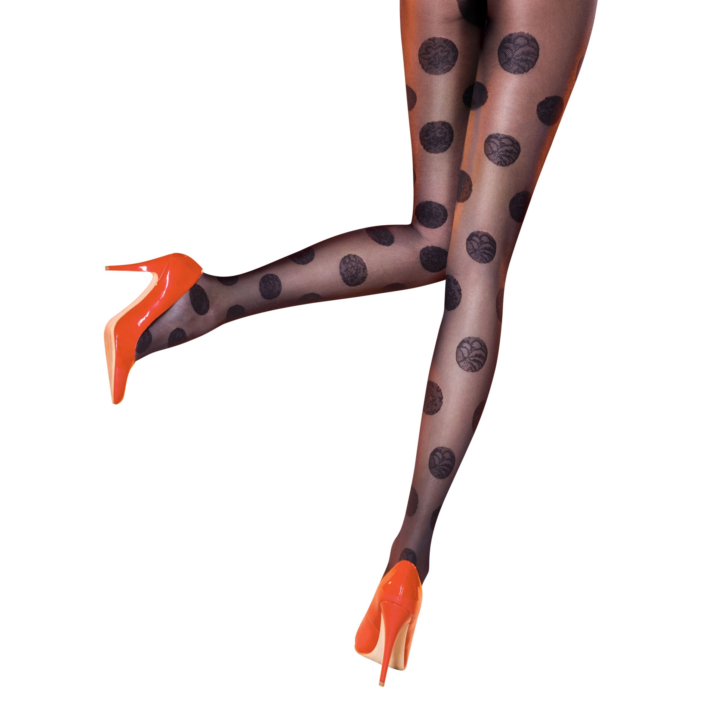 Pretty Polly Dotty Tights, Black