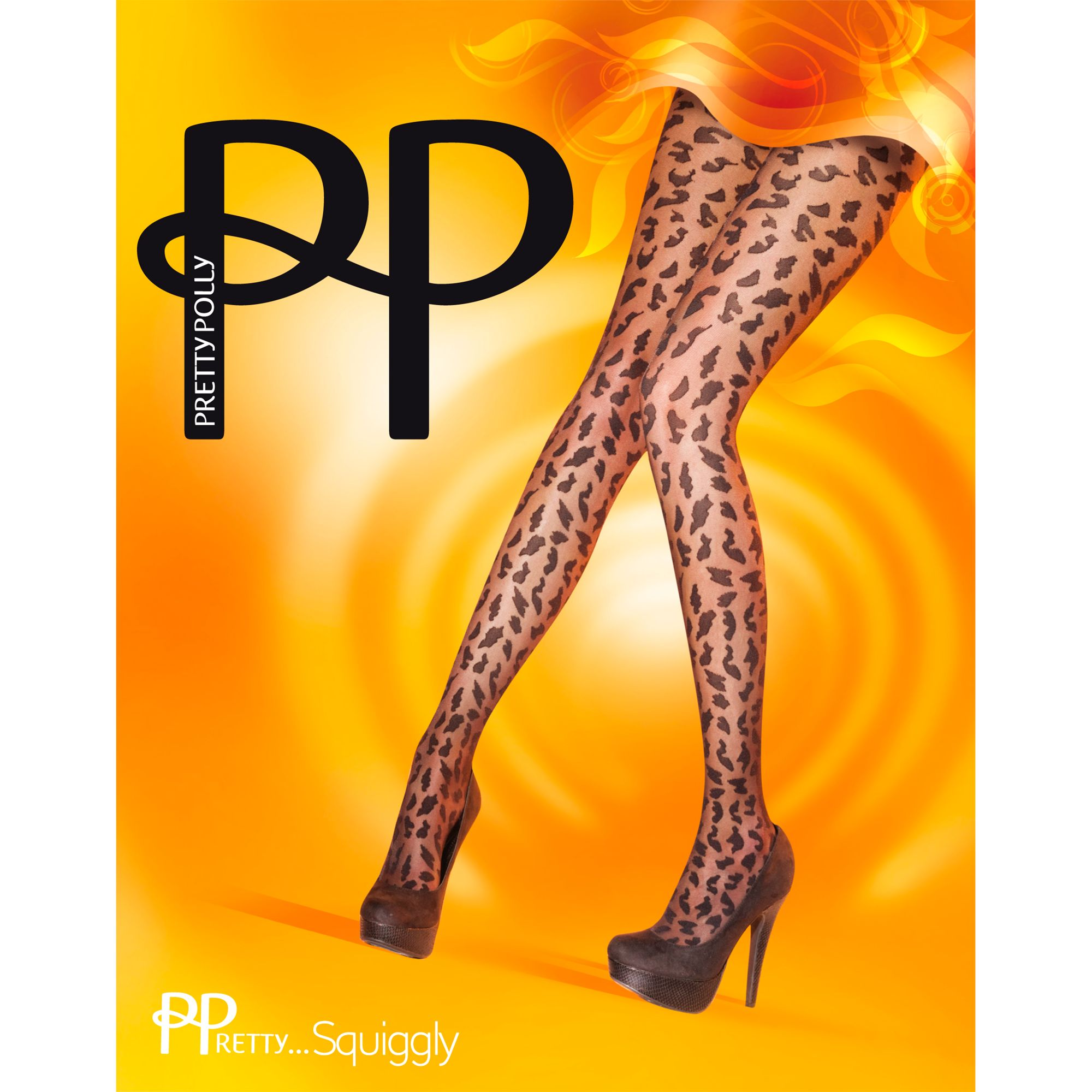 Pretty Polly Pretty Squiggly Tights, Black