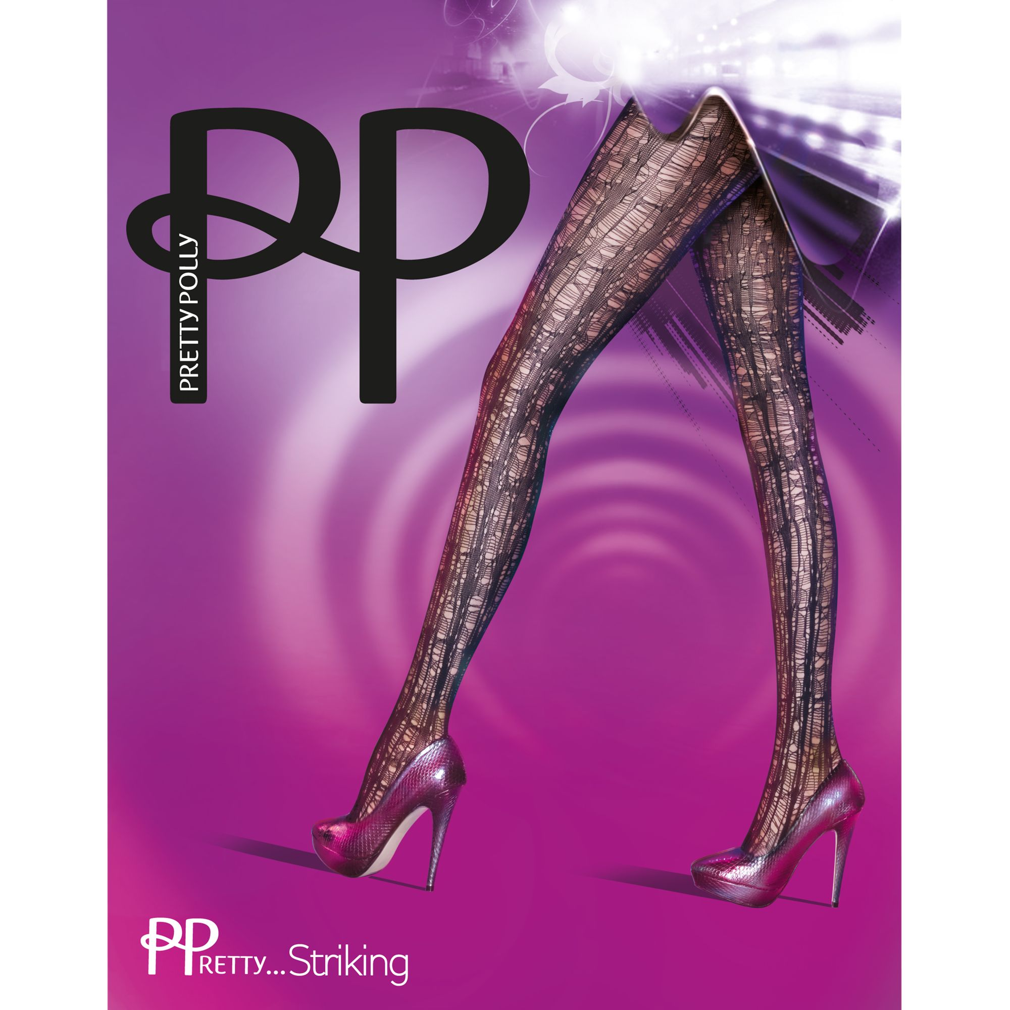 Pretty Polly Pretty Striking Tights, Black