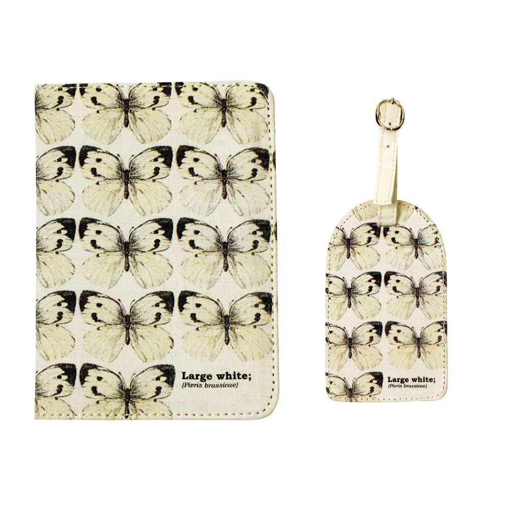 Papiliones Large White Butterfly Passport Set