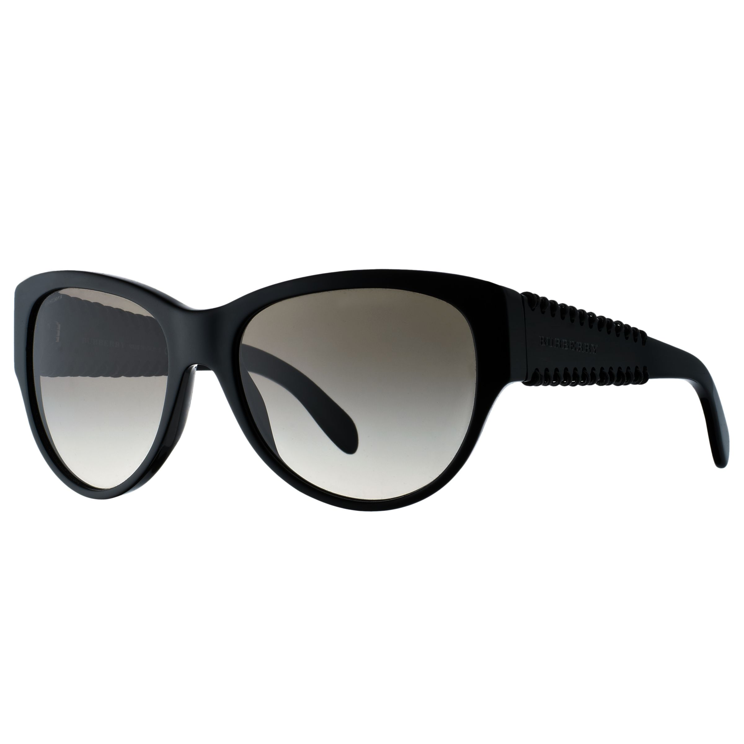 Burberry Catseye Whip Sunglasses, Black