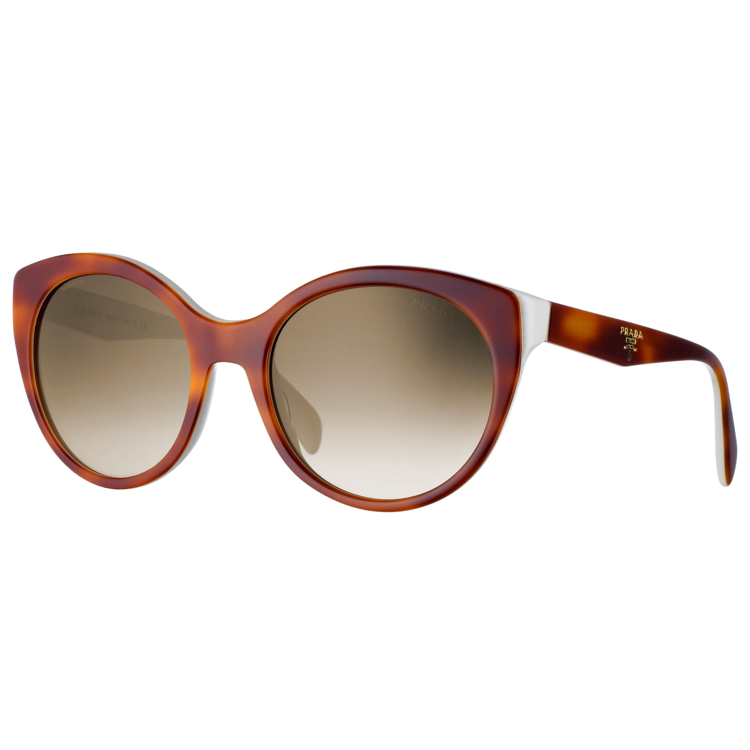 Prada Two Tone Handbag Logo Sunglasses, Light Brown