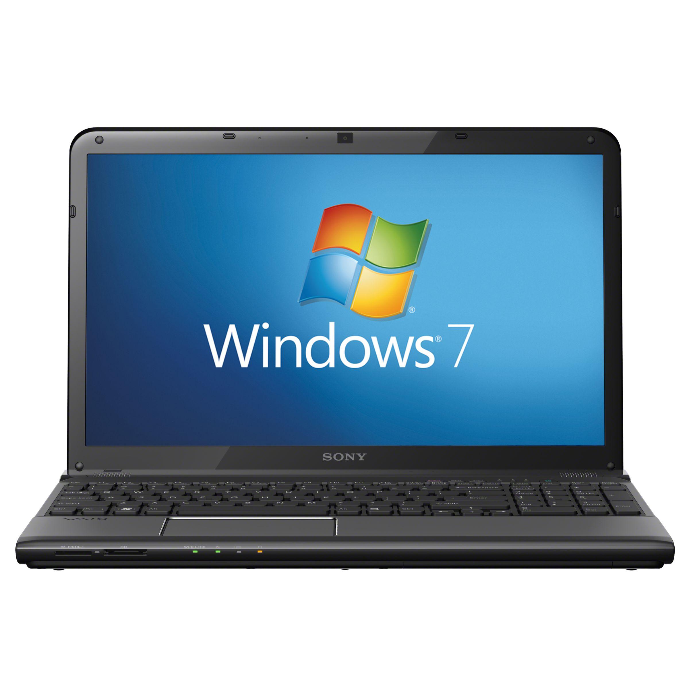 "Sony Vaio E1511f1eb Laptop, Intel Core I3, 2.4ghz, 4gb Ram, 640gb, 15.6"", Black"