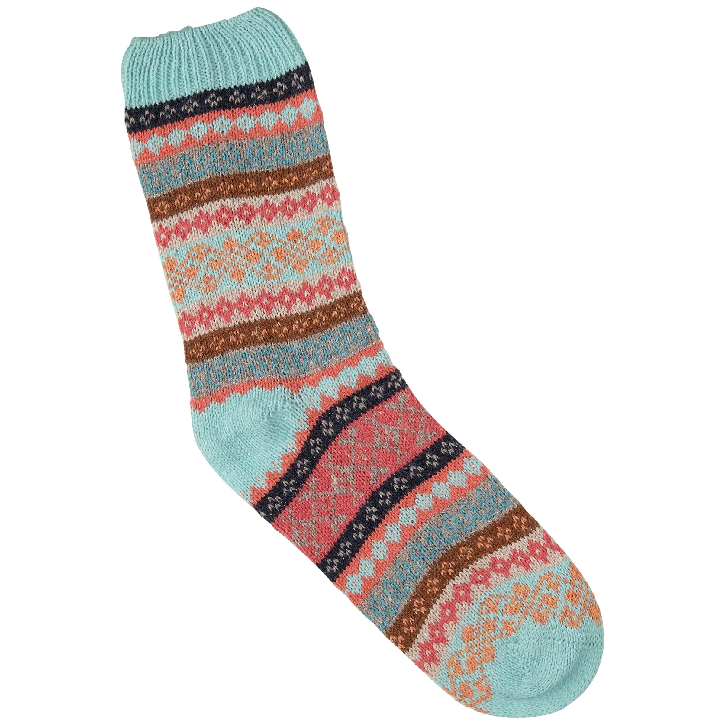Aroma Home Fairisle Bed Socks, Multi