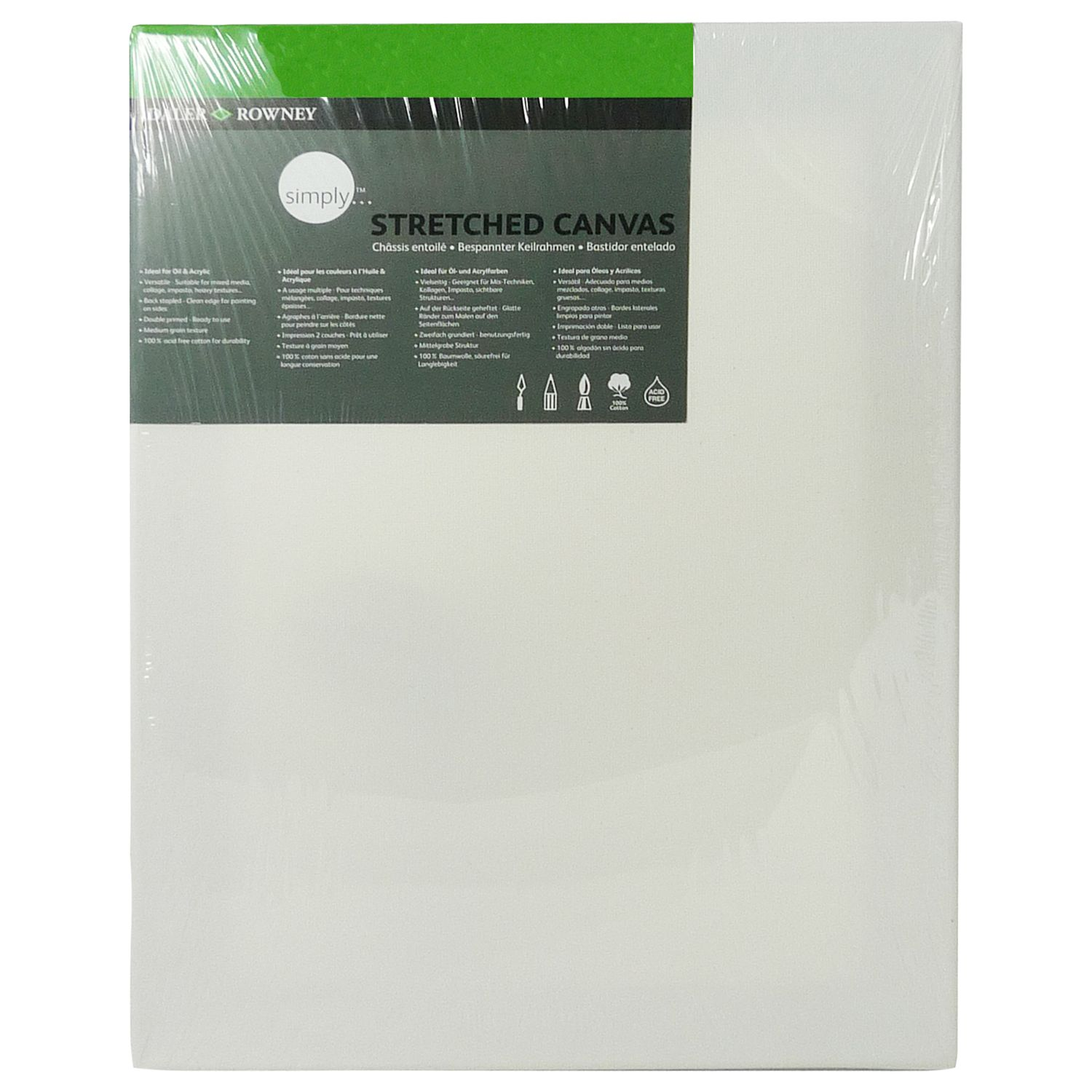 Daler-Rowney Stretched Canvas, 40 x 30cm