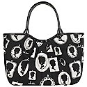 Lulu Guinness Cameo Frame Print Pleated Wanda Small Grab Bag, Monochrome