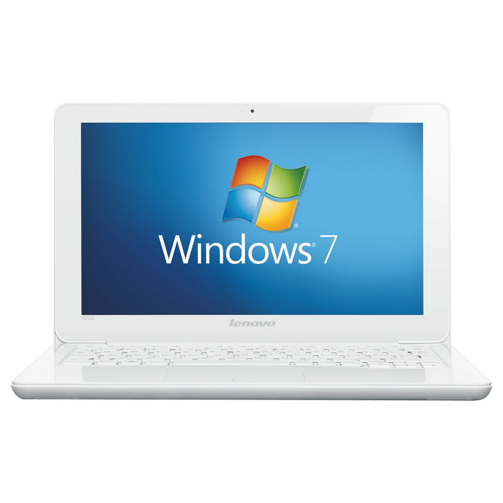 Lenovo Ideapad S206 Netbook, Amd E1200, 1.4ghz, 4gb Ram, 320gb With 11.6 Inch Display, White