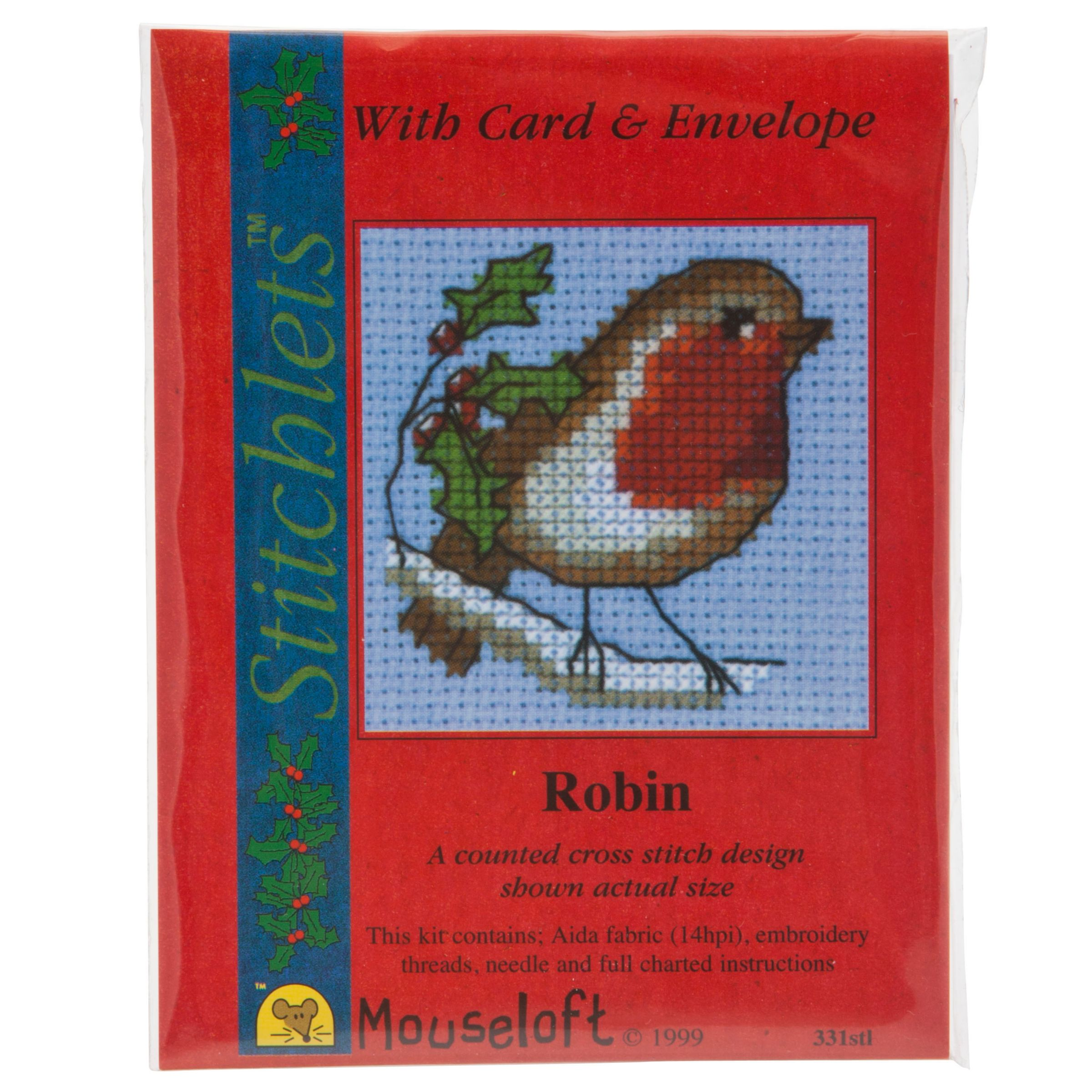 Mouseloft Cross-Stitch Kit, Red Robin