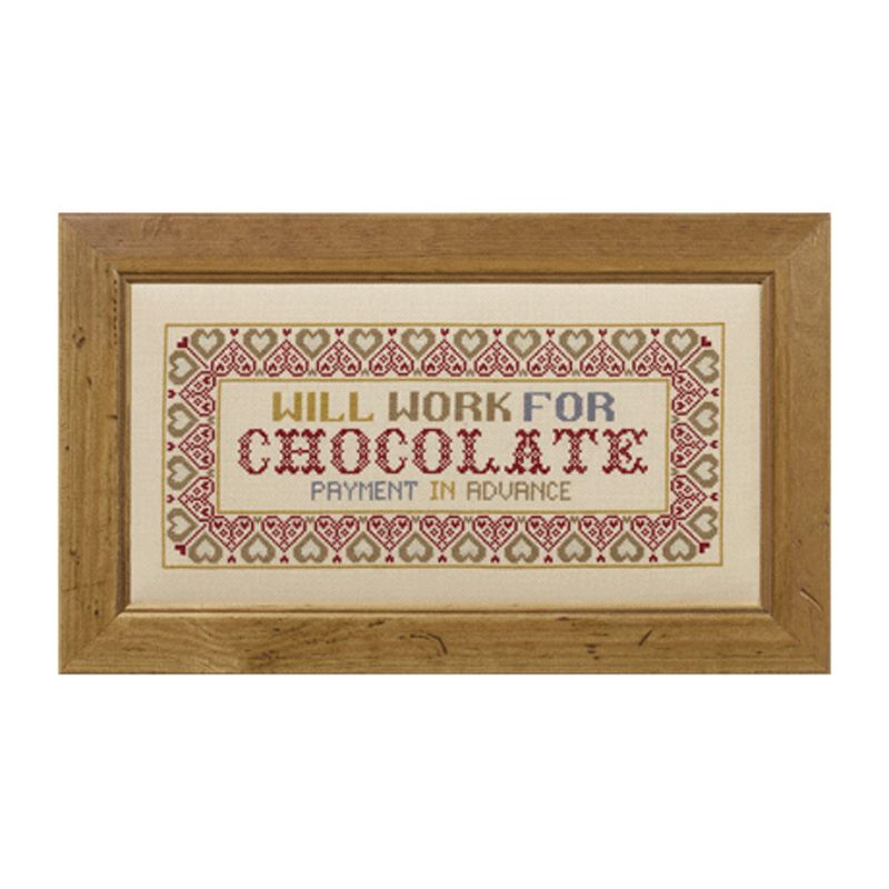 The Historical Sampler Company Cross-Stitch Kit, Will Work For Chocolate