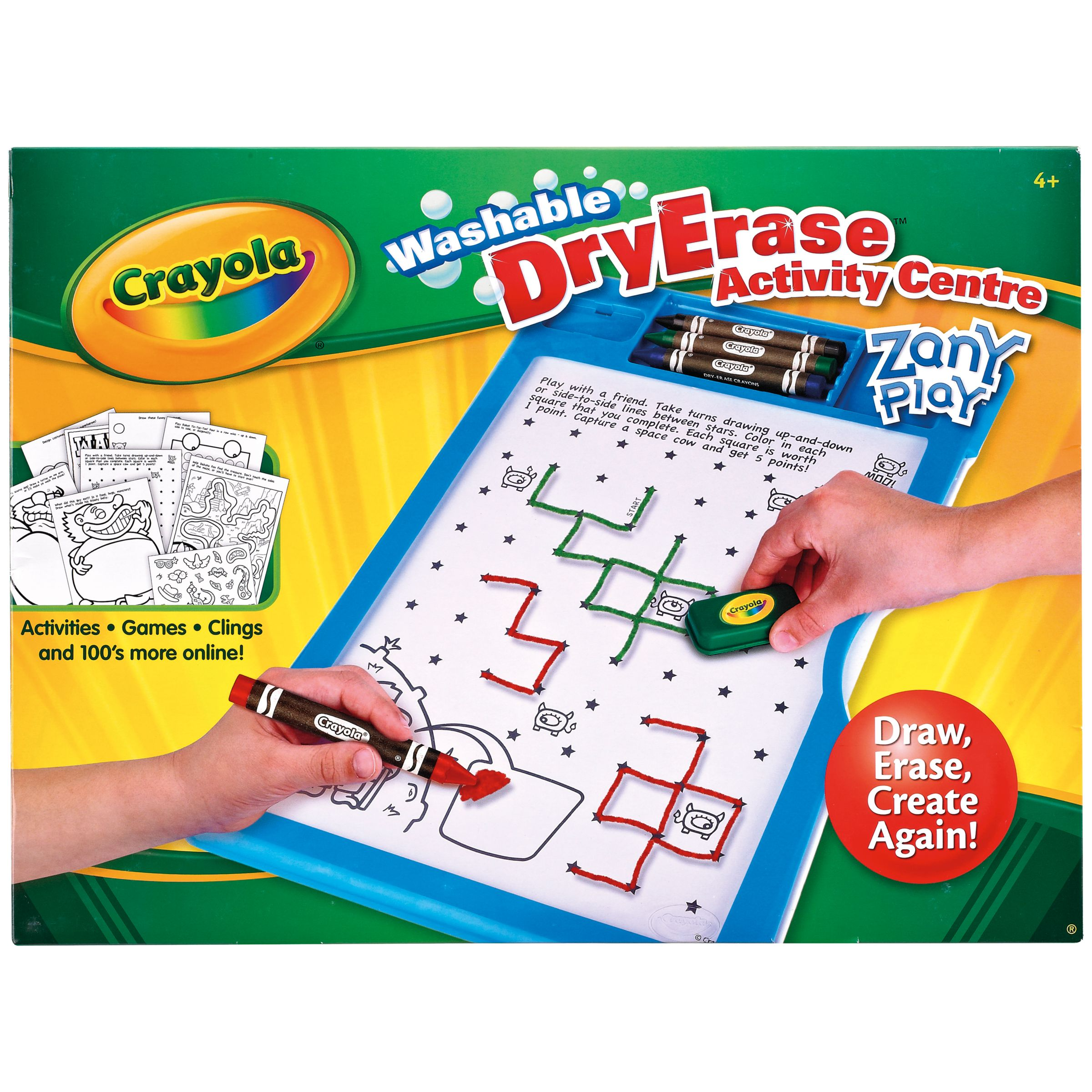 Crayola Washable DryErase Centre, Zany Play Edition