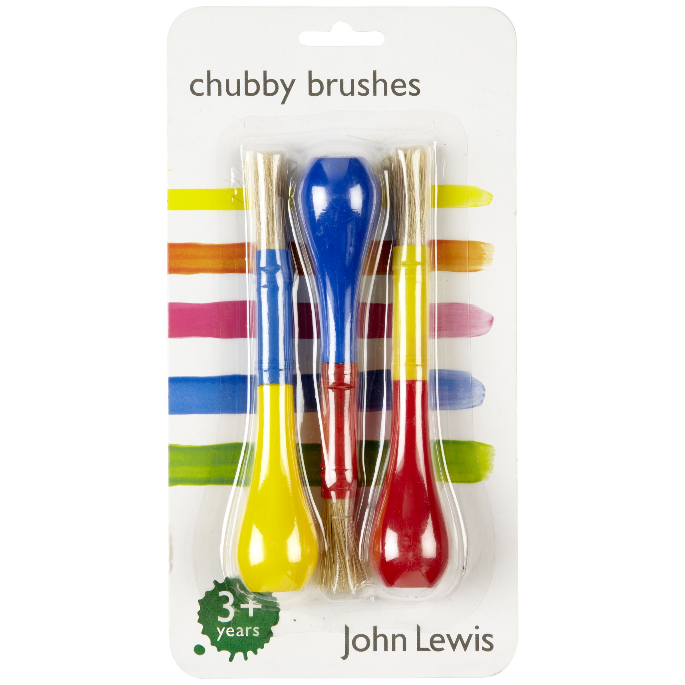 John Lewis Chubby Brushes, Pack of 3