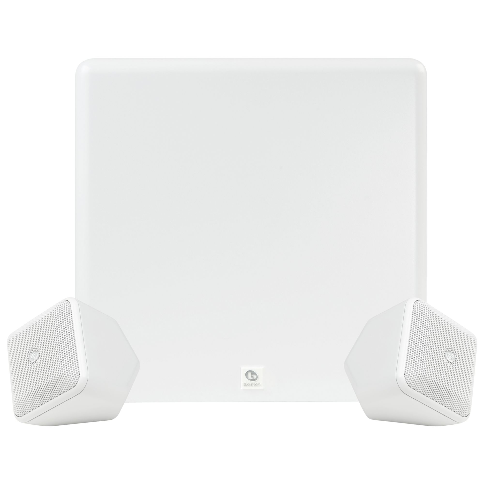 Boston Acoustics SoundWare XS 2.1 Stereo Speaker System, White