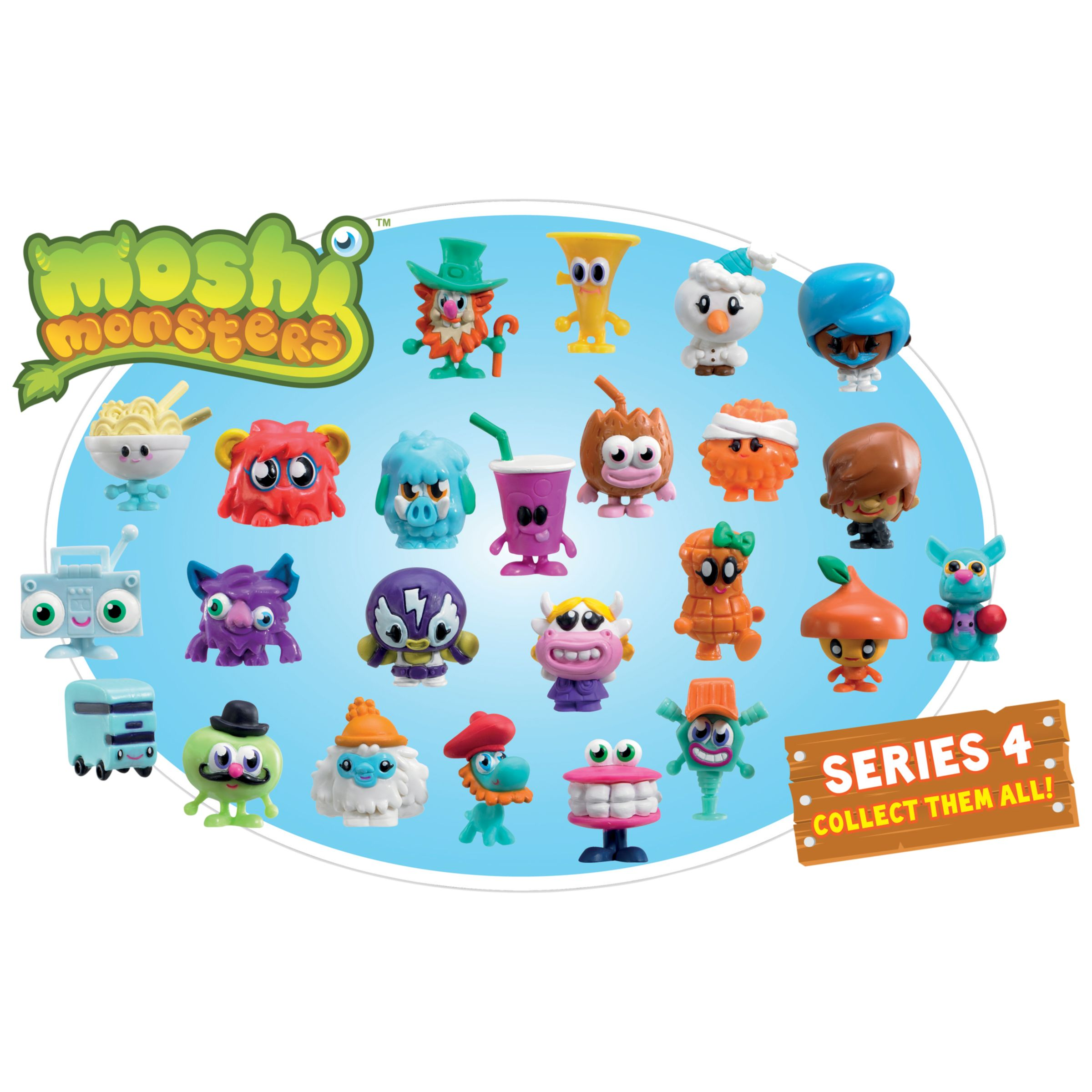Moshi Monsters Blister Pack, Series 4, Assorted