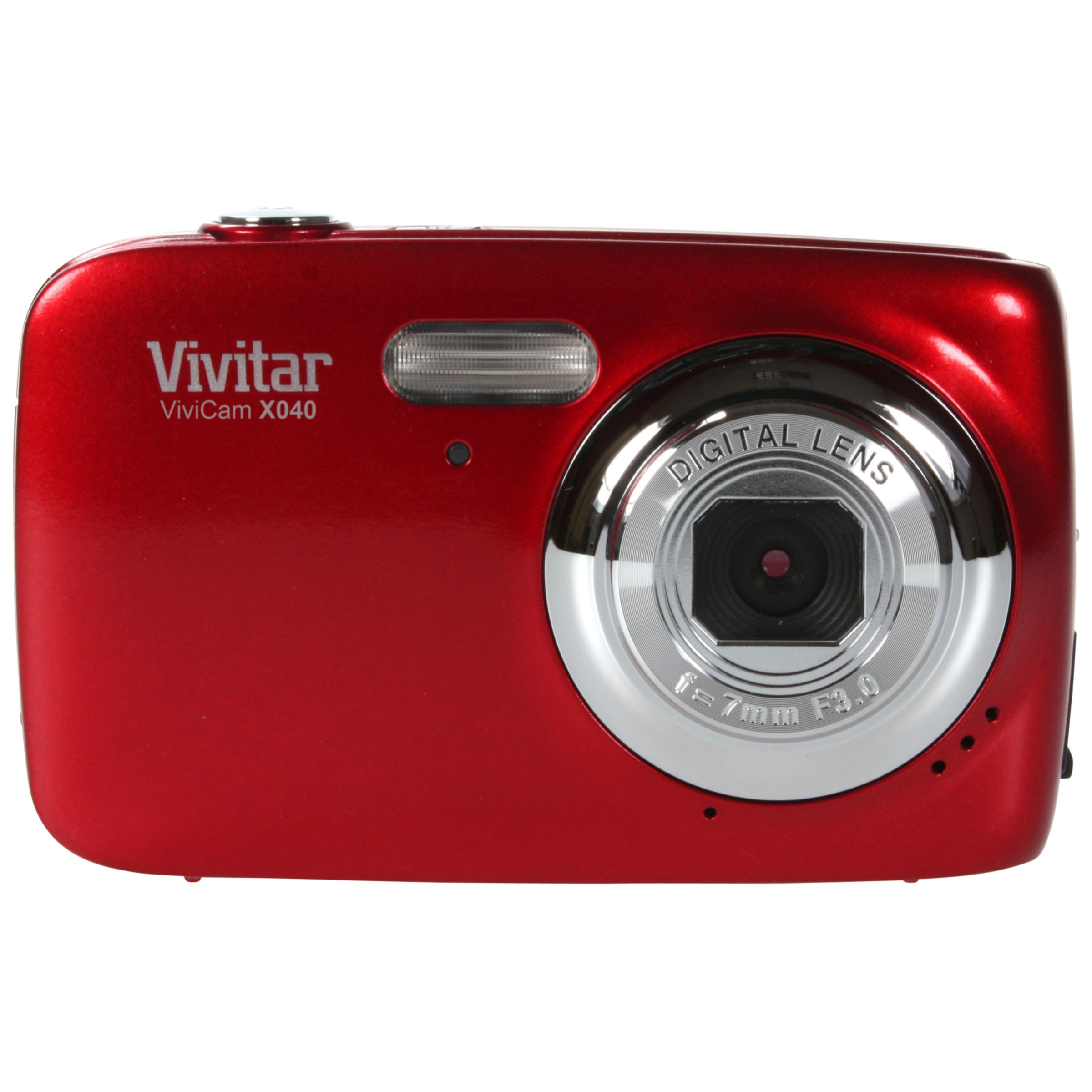 Vivitar X040 10.1 Mega Pixel Digital Camera, Red