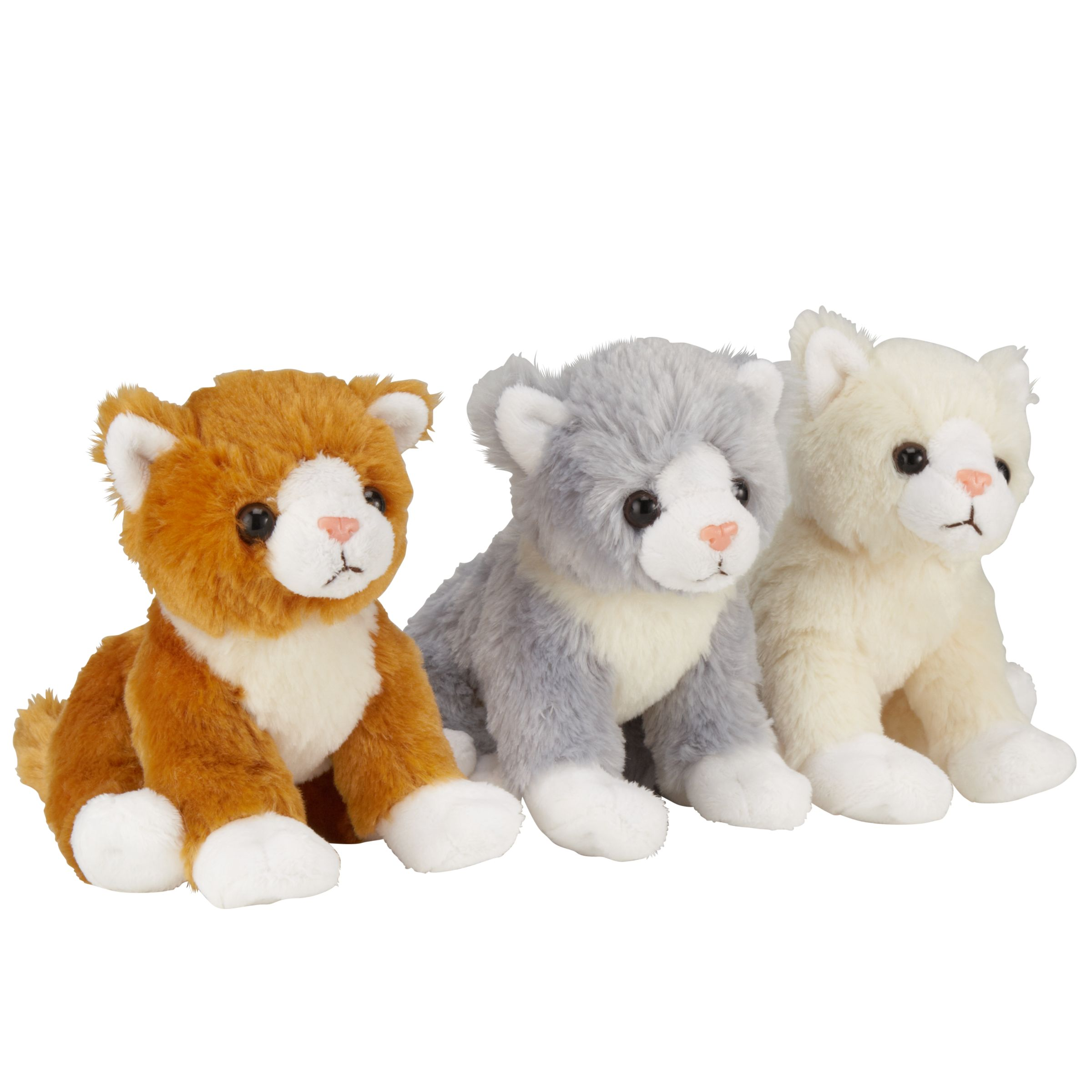 John Lewis Sitting Cat Plush Toy, Assorted