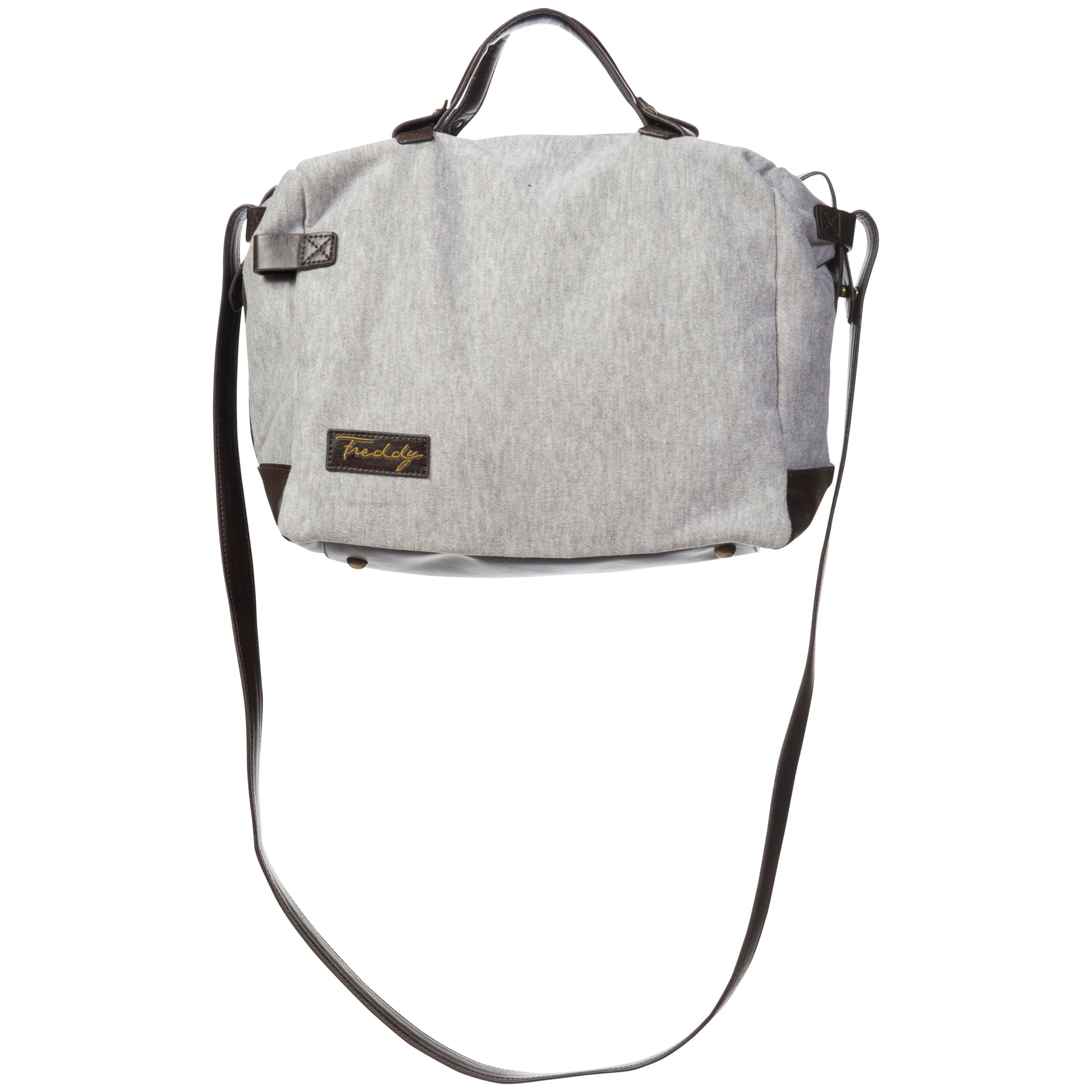 Freddy Fleece Shoulder Bag, Grey Marl