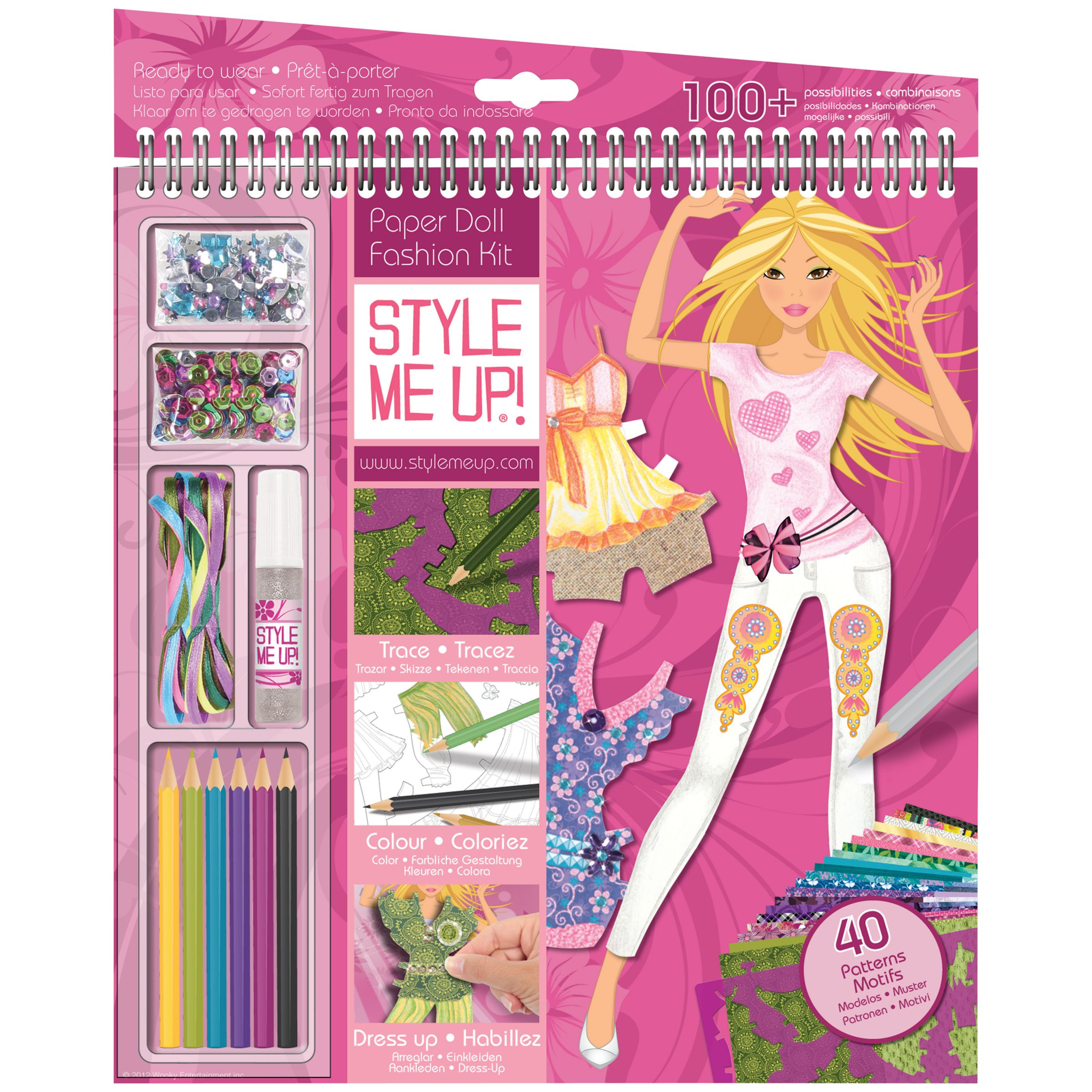 Style Me Up Giant Sketchbook, Summer Crush
