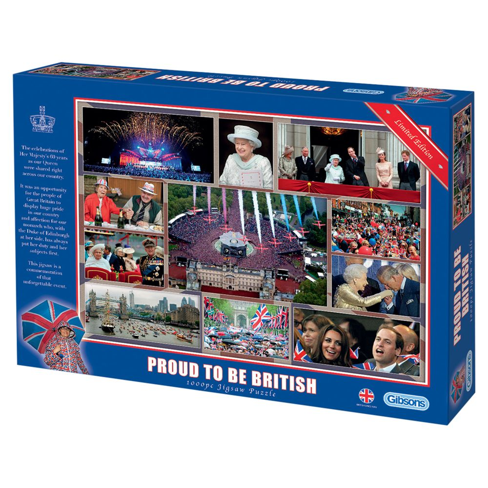 Gibson & Son Proud To Be British 1000 Piece Puzzle