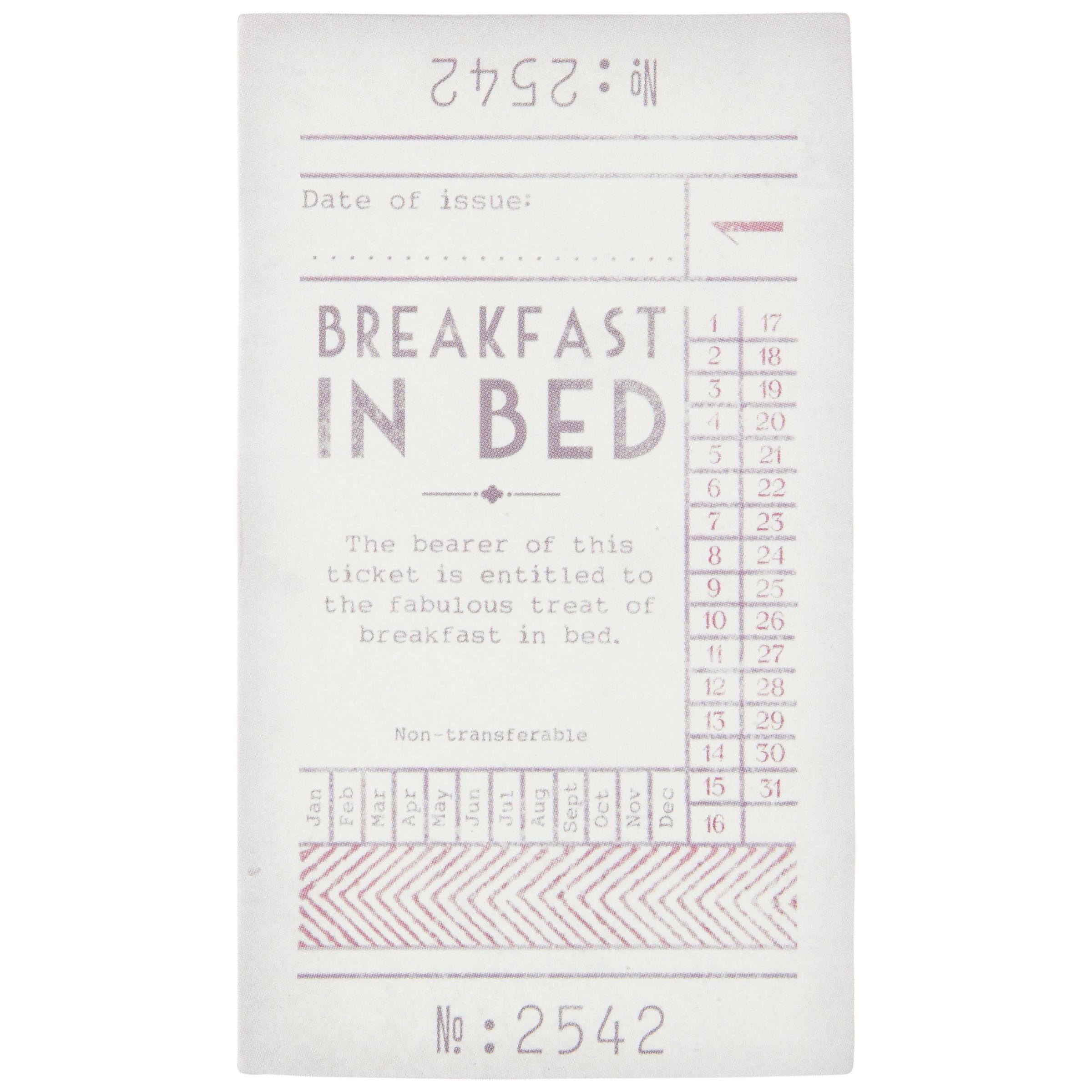 East of India Breakfast in Bed Love Token