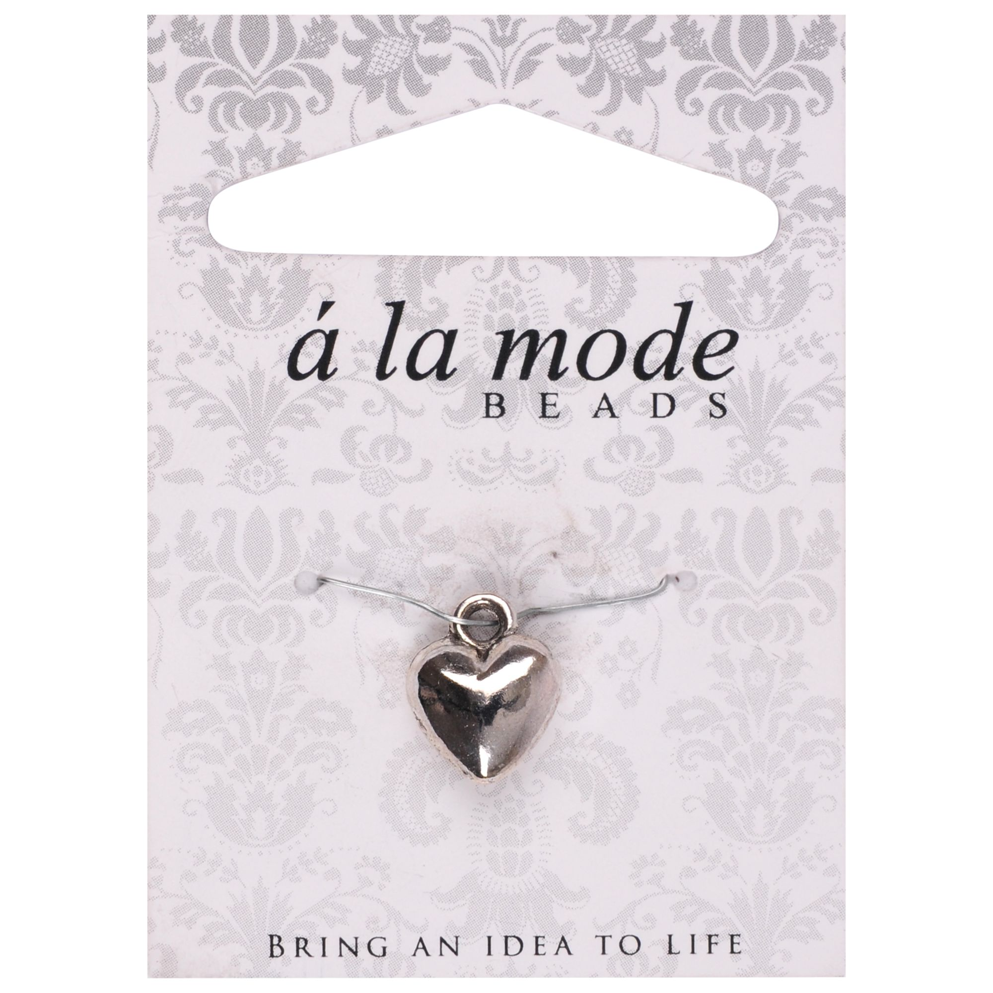 Groves A La Mode Charm, Heart, Silver