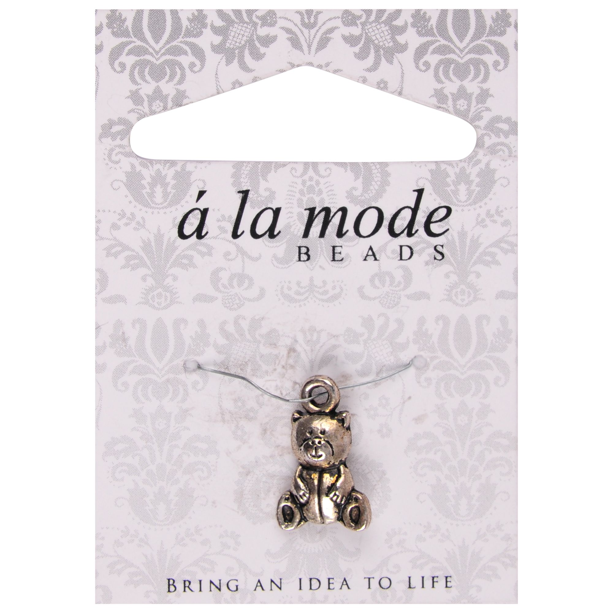 Groves A La Mode Charm, Bear, Silver