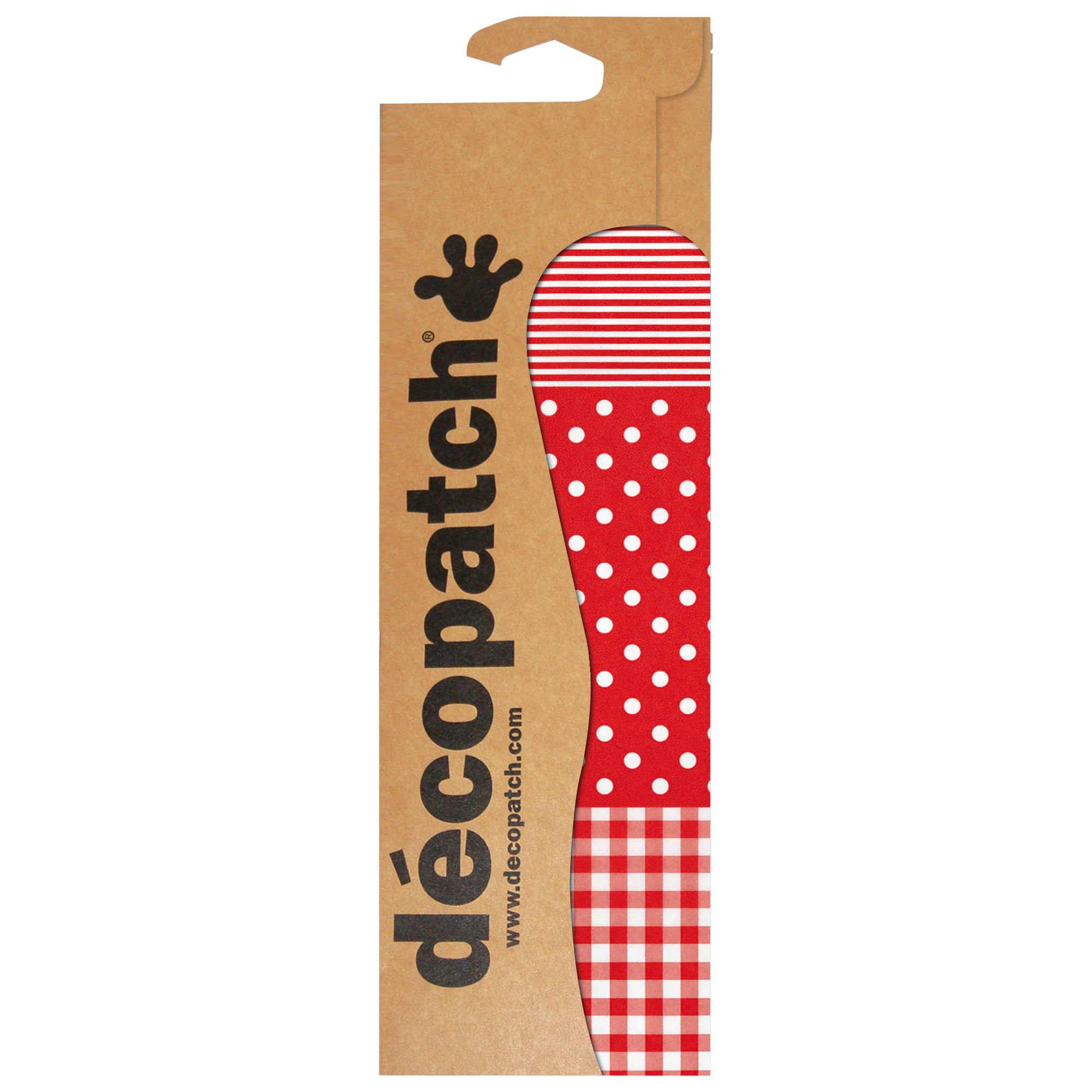 Decopatch Paper, Pack of 3, Red