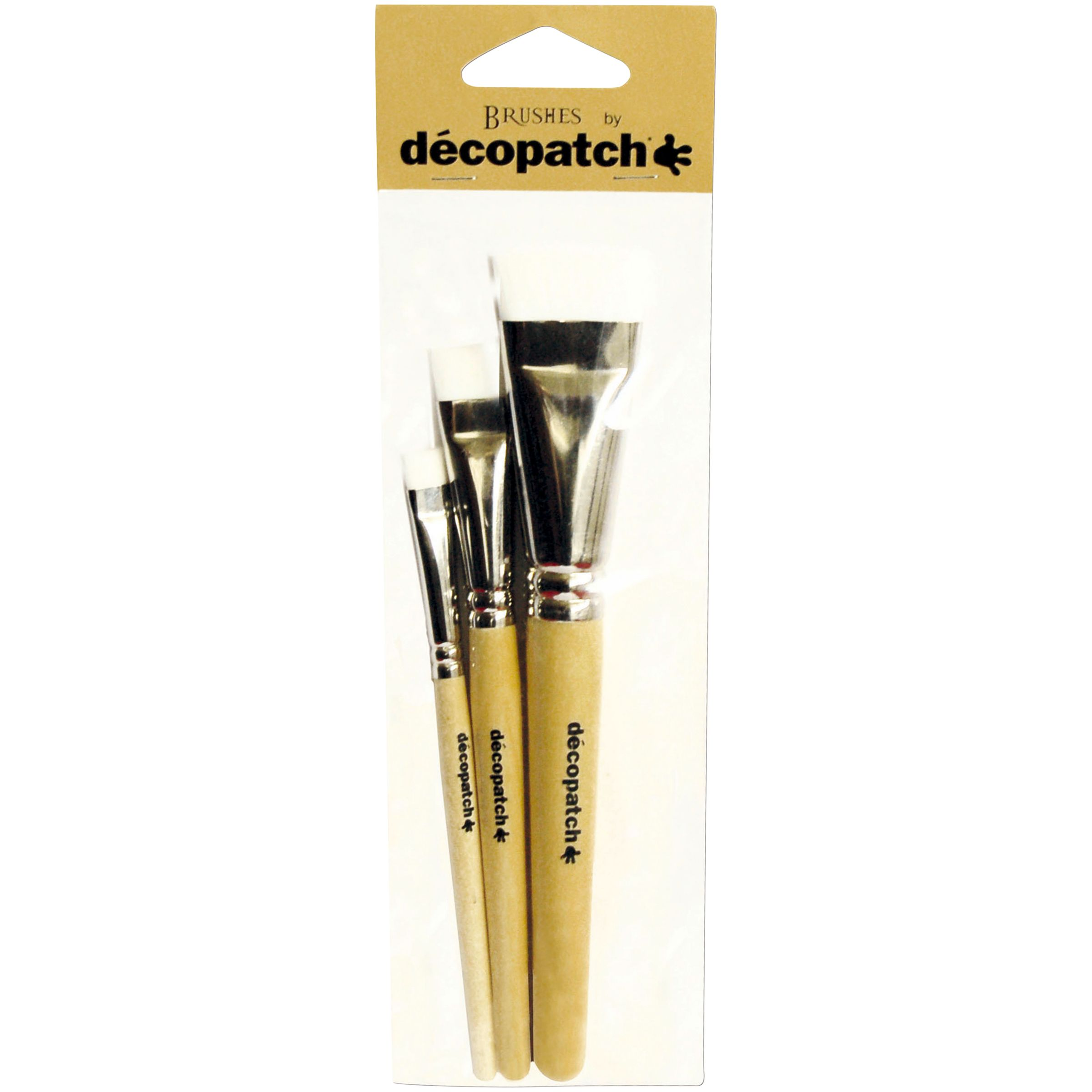 Decopatch Mixed Brushes, Pack of 3