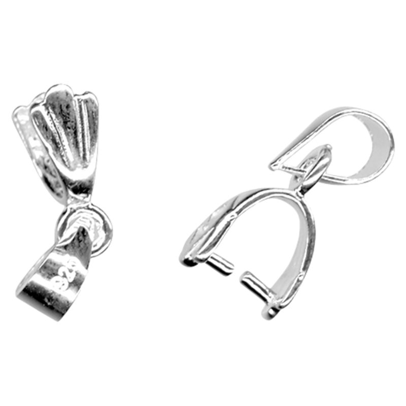 John Lewis 16mm Pendant Mount, Pack of 2, Sterling Silver