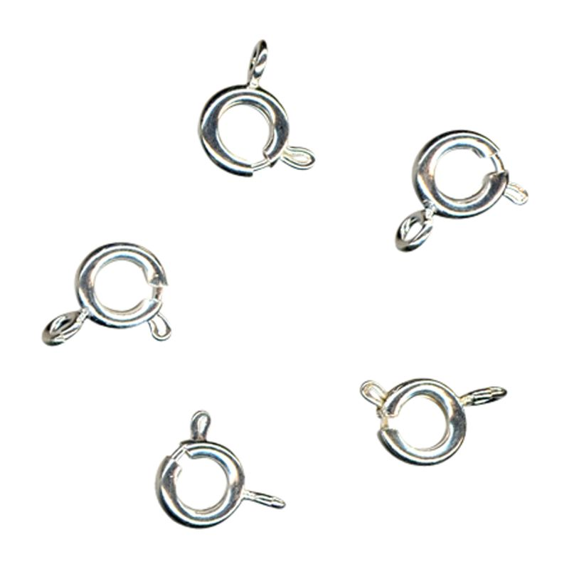 John Lewis 6mm Bolt Rings, Pack of 100, Silver Plated