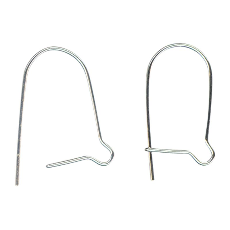 John Lewis Kidney Earwires, Pack of 20, Silver Plated