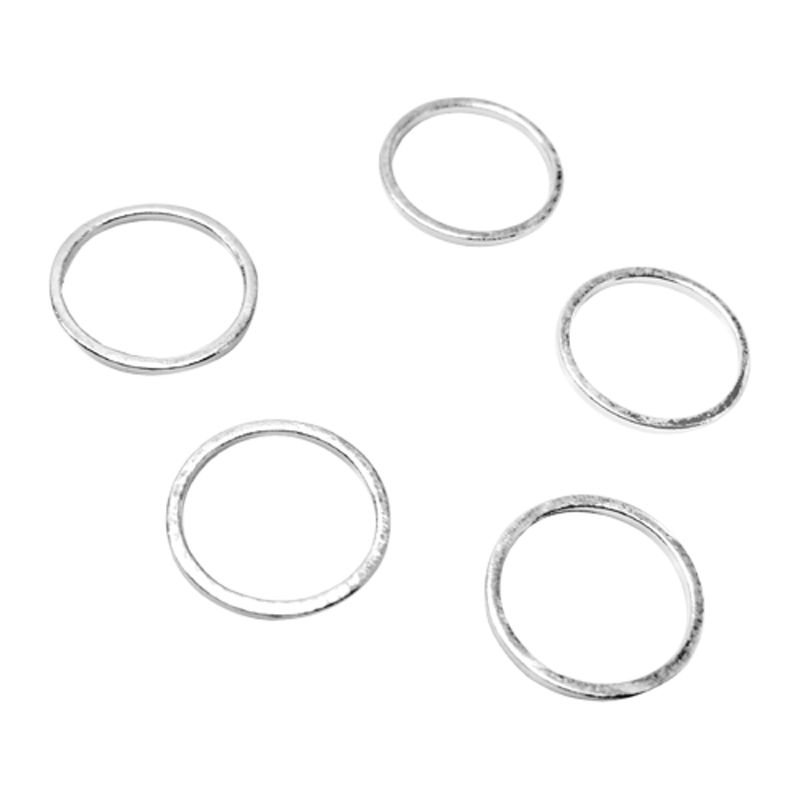 John Lewis 12mm Round Whiz Rings, Pack of 50, Silver Plated