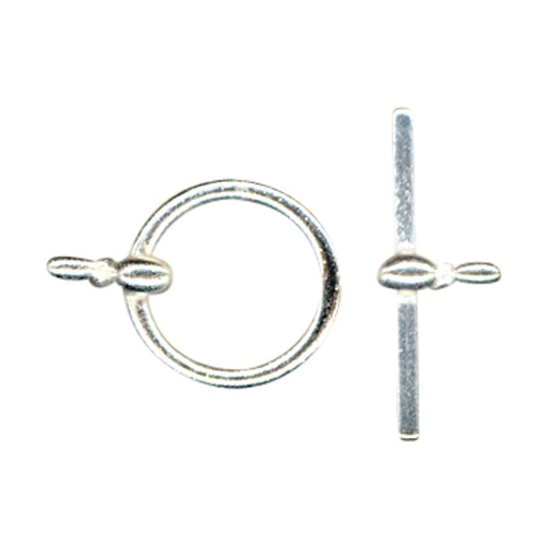John Lewis 12mm Toggle Clasp, Pack of 5, Silver