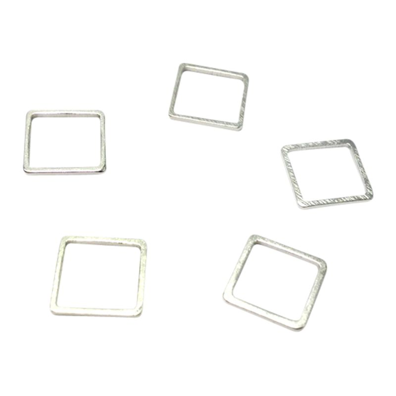 John Lewis 10mm Square Whiz Links, Pack of 50, Silver Plated
