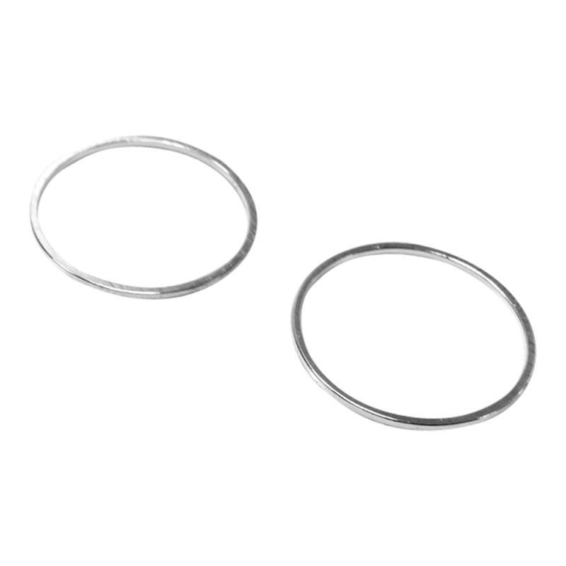 John Lewis 20mm Round Whiz Rings, Pack of 20, Silver Plated