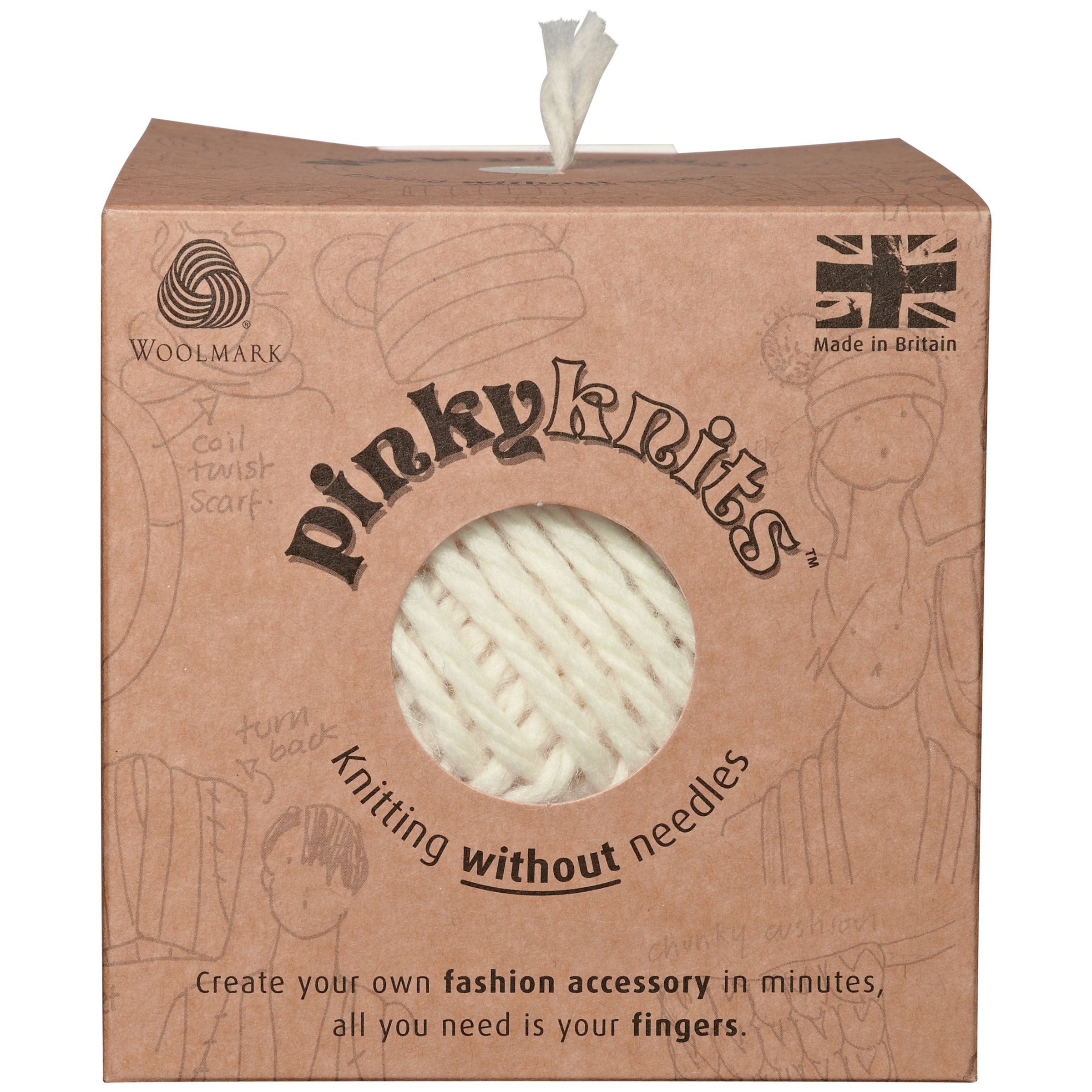 Pinky Knits Kit, Cream