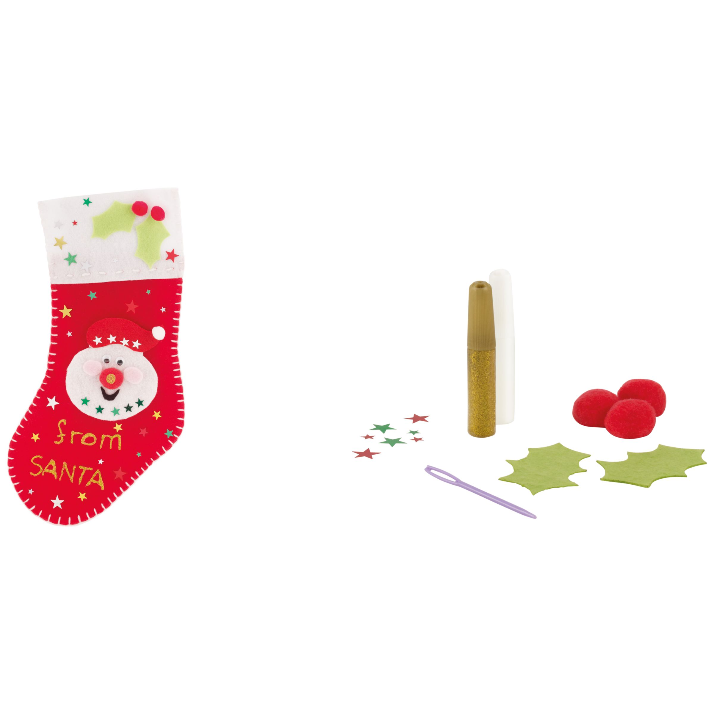 John Lewis Make Your Own Christmas Stocking Kit