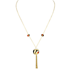 Gold Vermeil Chain Drop Pendant Necklace