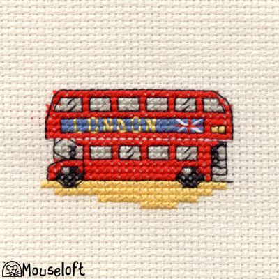 Mouseloft Cross-Stitch Kit, London Bus