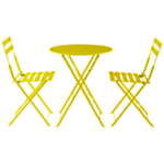 Soho Round 2 Seater Outdoor Bistro Set , Yellow