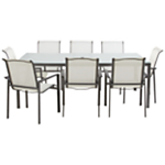 John Lewis Milo Rectangular 8 Seater Outdoor Dining Set, White