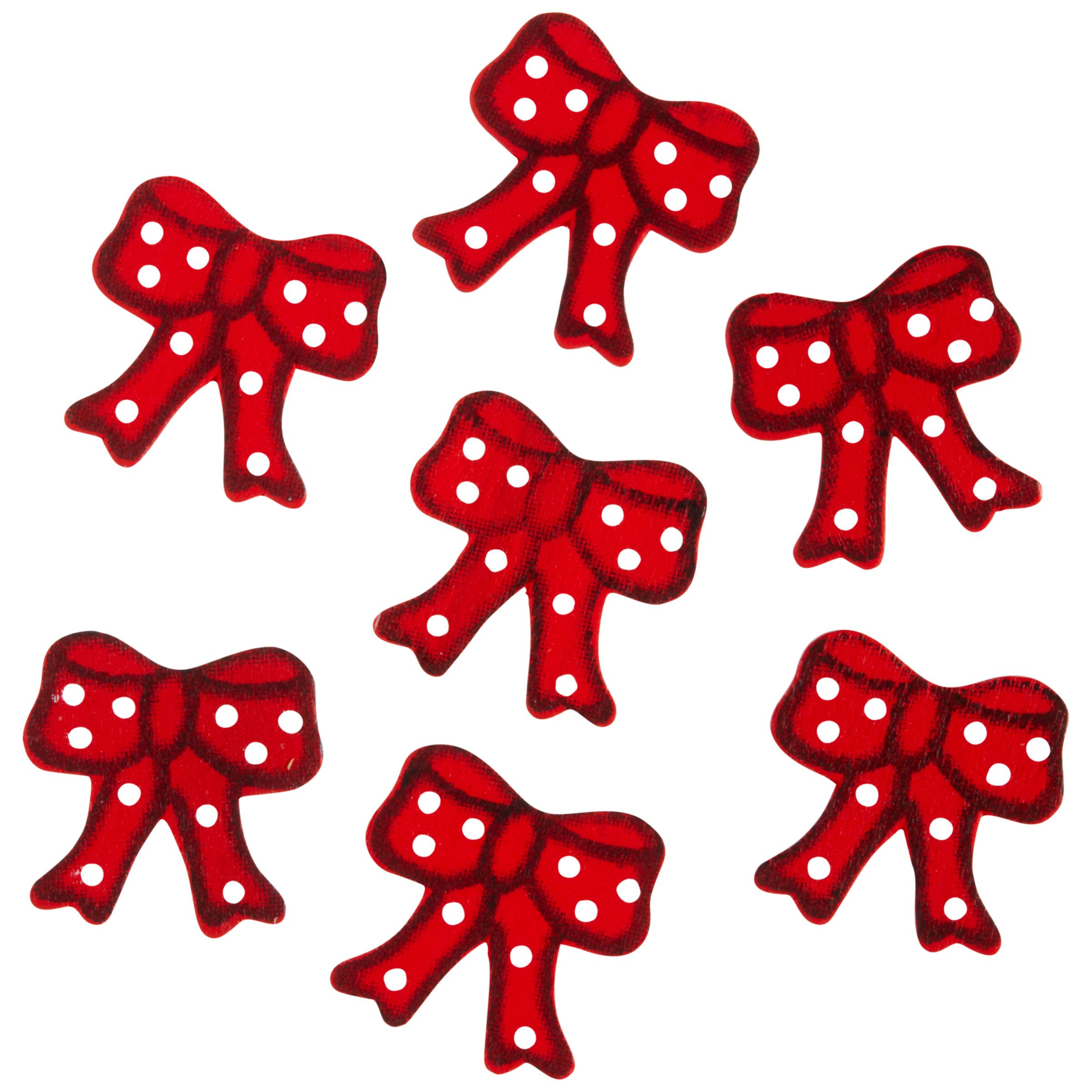 John Lewis Paper Toppers, Red Bows, Pack of 12