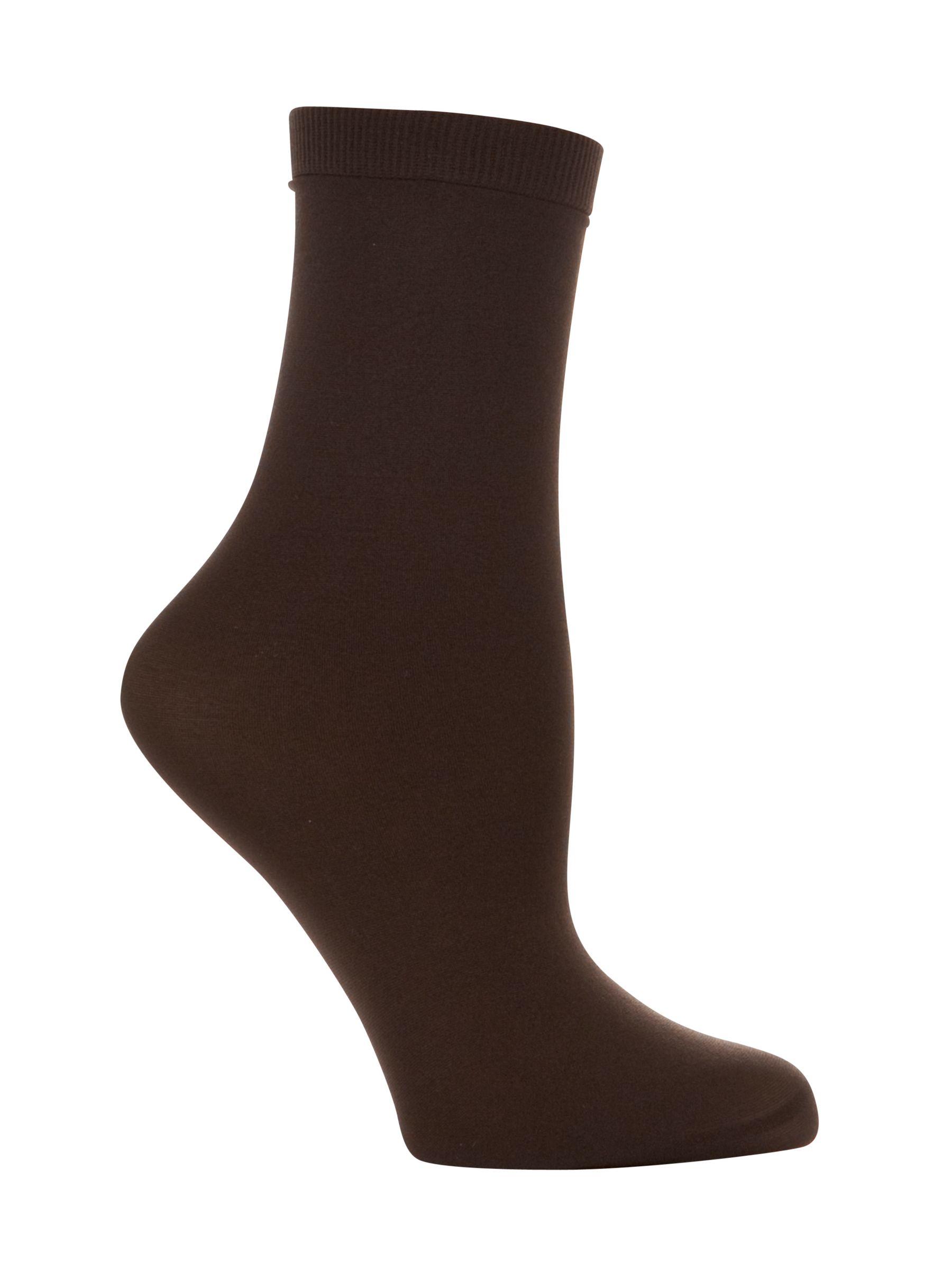 John Lewis 40 Denier Anklet Socks, Pack of 2, Bark
