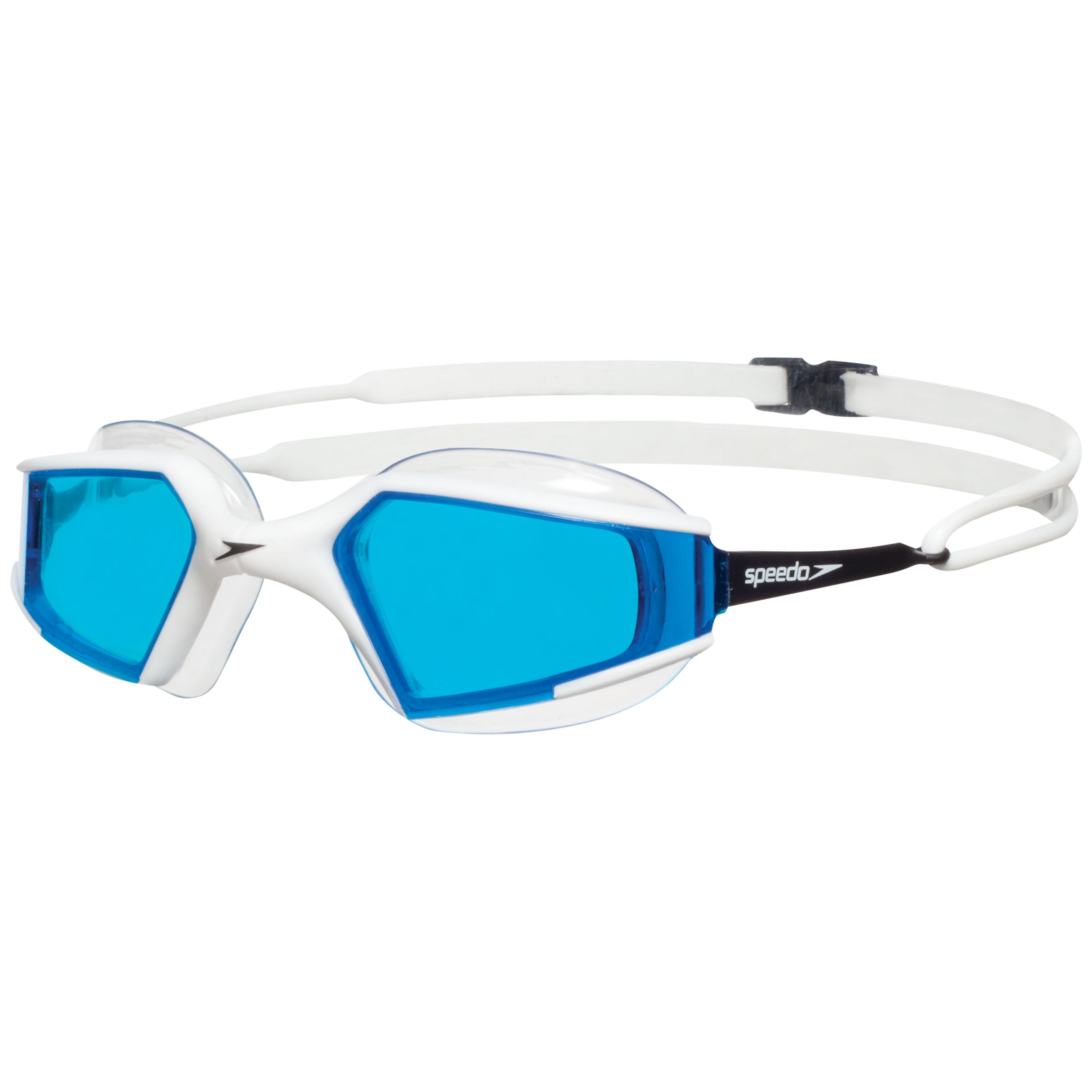 Speedo Aquapulse Max Swimming Goggles, White/Black/Blue