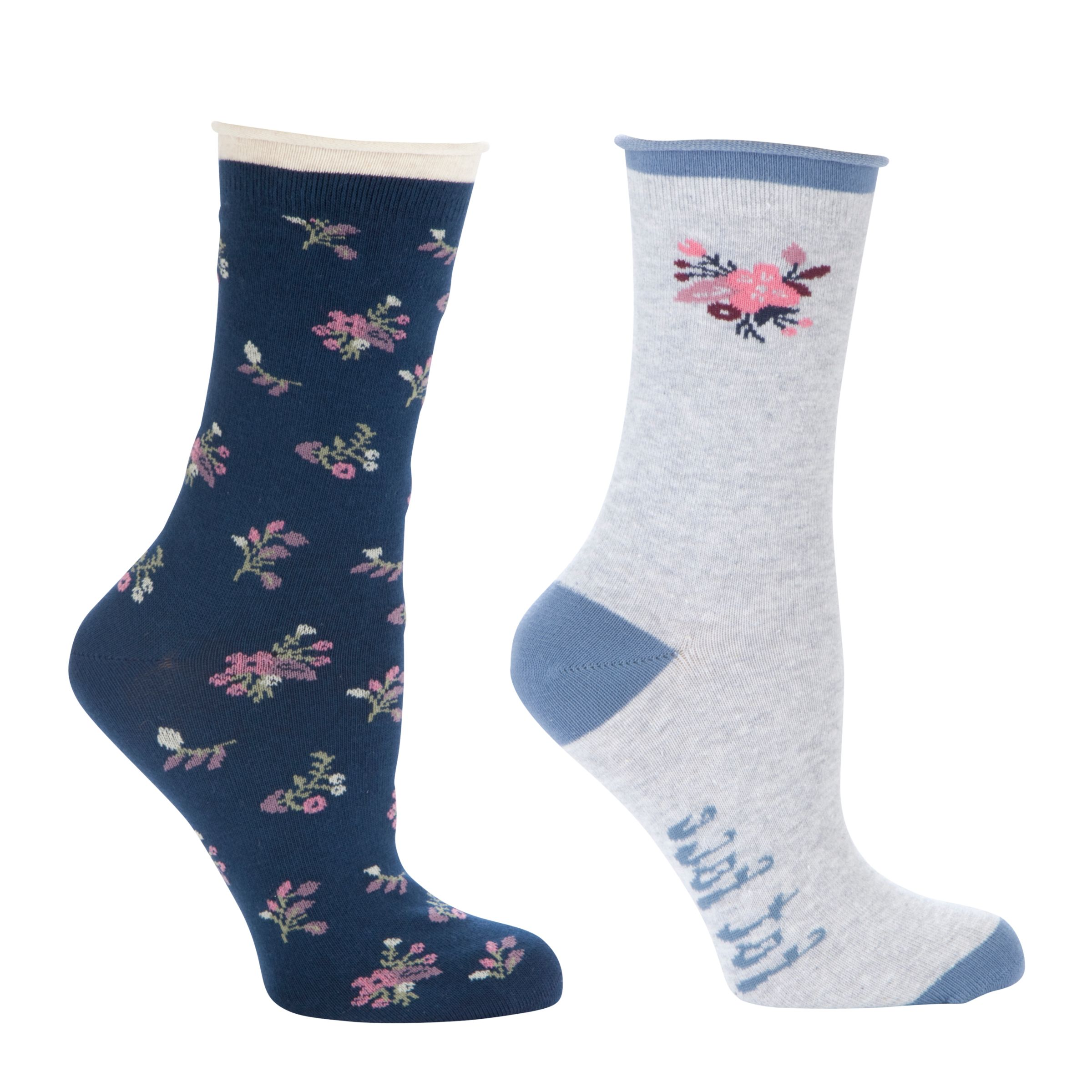 Fat Face Floral Ditsy Ankle Socks, Pack of 2, Navy