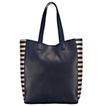 Somerset by Alice Temperley Camellia Raw Edge Tote , Navy