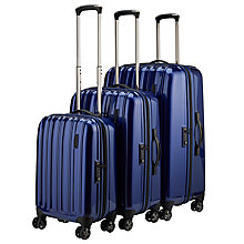 Buy John Lewis Monaco II 4-Wheel Suitcase Range, Royal Blue Online at johnlewis.com